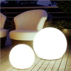Проводной белый светящийся шар 120см