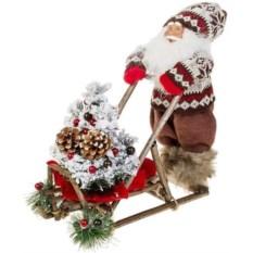 Новогоднее светящееся украшение Дед Мороз на санках