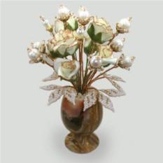 Цветы из жемчуга Любовные