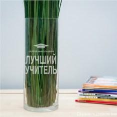 Именная ваза с гравировкой Учитель