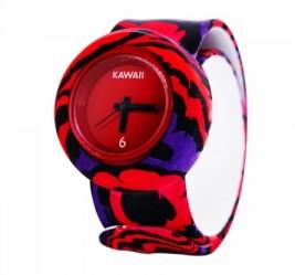 Слэп-часы mini Красные волны
