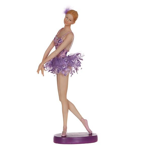 Статуэтка Балерина в сиреневом наряде