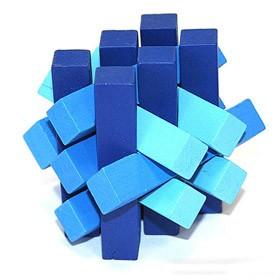 Головоломка деревянная, синяя