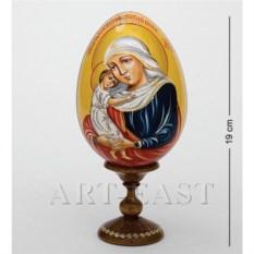Яйцо-икона из дерева Святой Лик