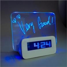 Светящийся  будильник с доской для записей
