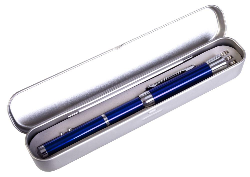 Флешка с ручкой, фонариком и лазерной указкой, синяя, 8 Гб