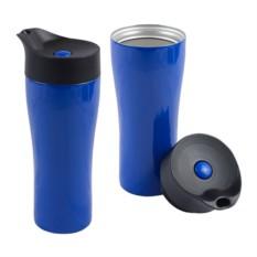 Синий вакуумный термостакан Фабио 370 мл