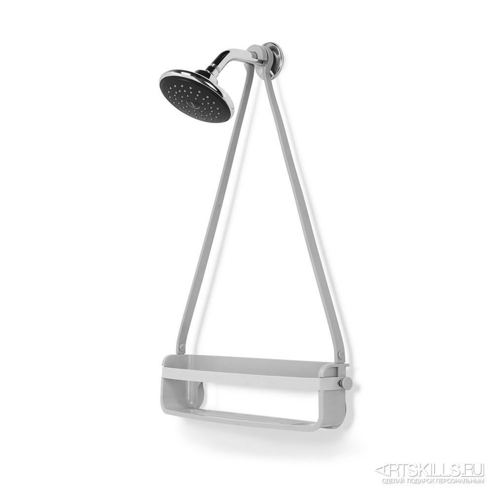 Серый органайзер для душа Flex single