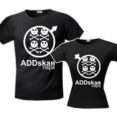 Комплект футболок halloween ADDskaя пара