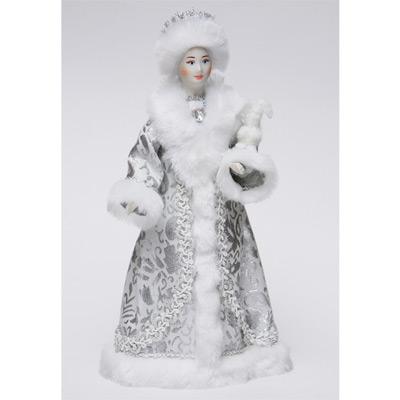 Сувенир «Снегурочка под ёлку с зайцем»