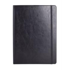 Чёрная записная книжка Freenote в клетку