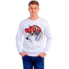 Мужская толстовка Волчья собака в кепке