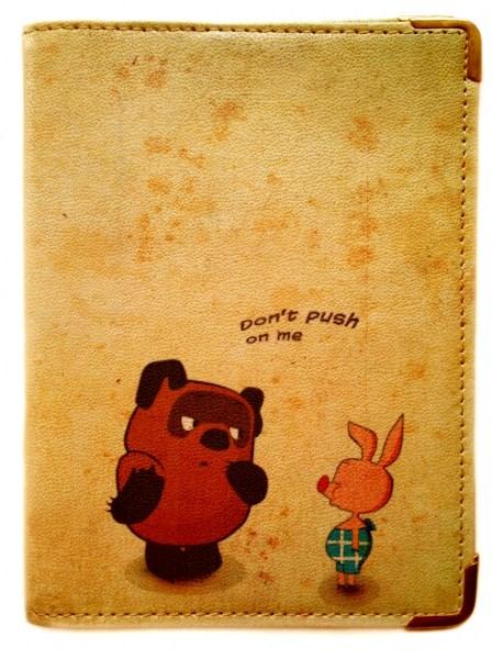 Кожаная обложка для паспорта Винни Пух