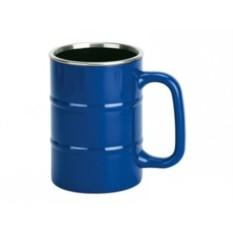 Синяя кружка «Баррель» на 400 мл