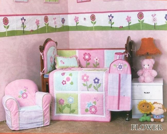 Комплект в детскую кроватку Flower (5 предметов)