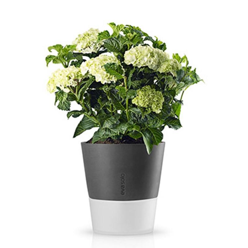 Серый горшок для растений с естественным поливом Flowerpot