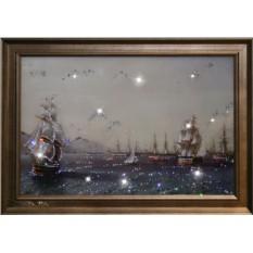 Картина с кристаллами Сваровски Военный флот