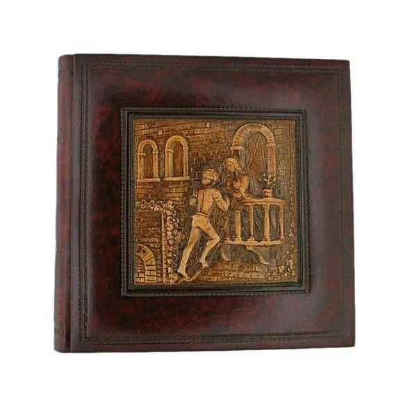 Florentia. Кожаный фотоальбом Ромео и Джульетта
