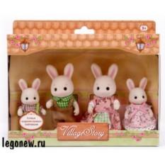 Игровой набор Village Story Семья карамельных кроликов