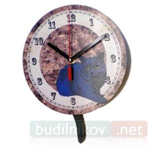 Часы настенные Кошка на Лавке