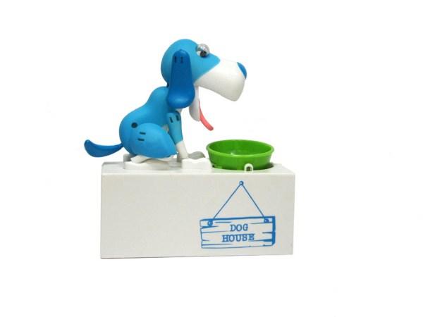 Интерактивная копилка Голодный Пес (голубой)