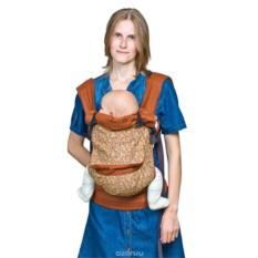 Льняной бежевый слинг-рюкзак Чудо-Чадо