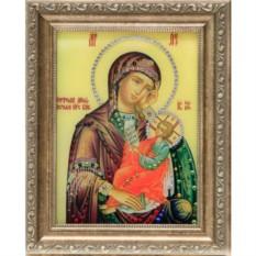 Икона Божией Матери со Swarovski Утоли мои печали