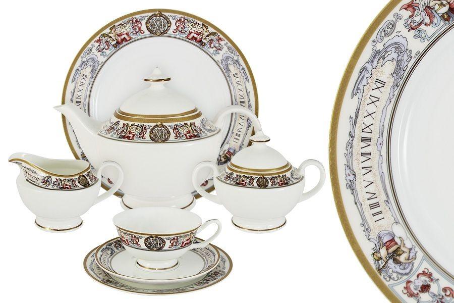Фарфоровый чайный сервиз на 12 персон Мельпомена