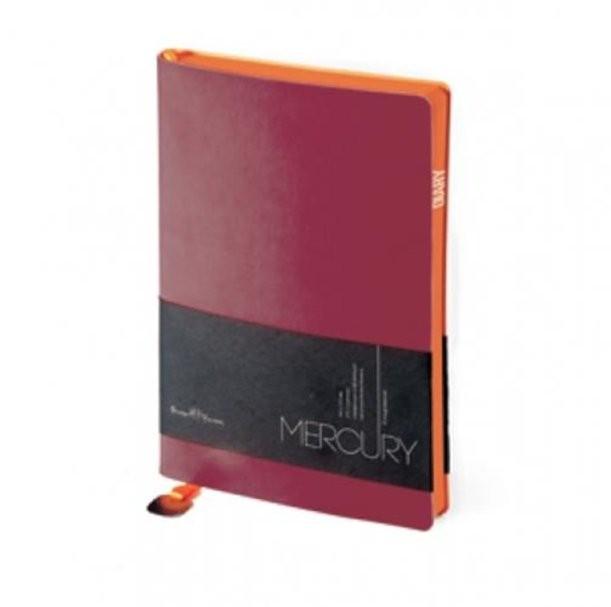 Бордовый недатированный ежедневник Mercury А5