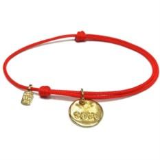 Позолоченный веревочный браслет Душа с серебром