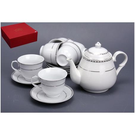 Чайный сервиз «Белый с полоской»