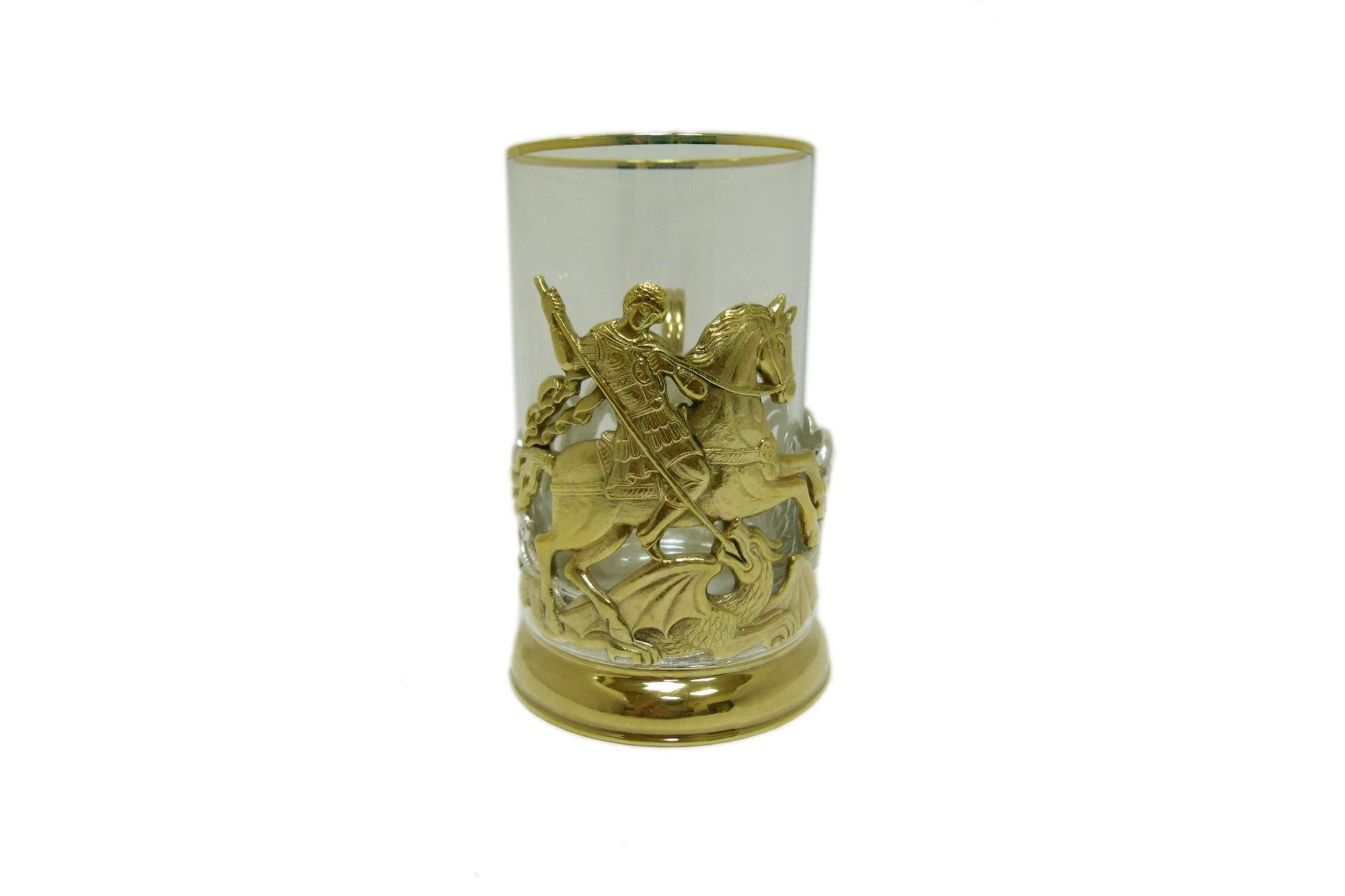 Подарочный подстаканник для чая Георгий Победоносец