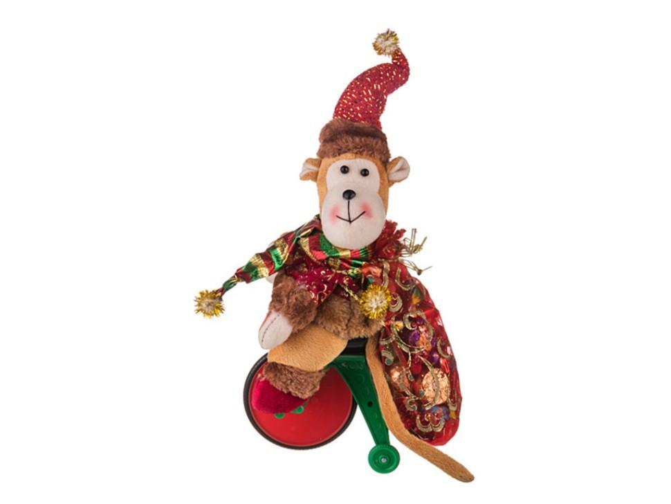 Музыкальная игрушка Обезьянка на тележке