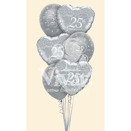 Букет из шаров «С юбилеем - 25 лет»