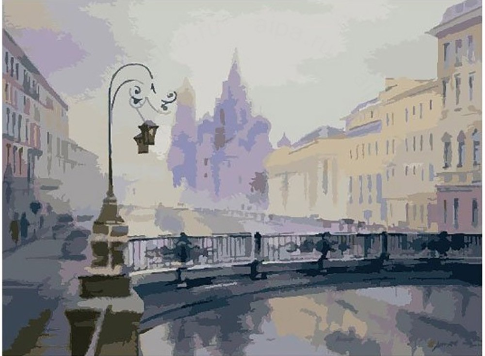 Картины по номерам «Канал Грибоедова»