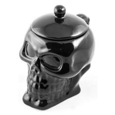 Кружка с крышкой Черный череп