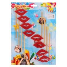 Карнавальный набор для фотосессии Гламурные губки, цвет красный