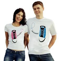 Парные футболки Моя половинка, ботинок