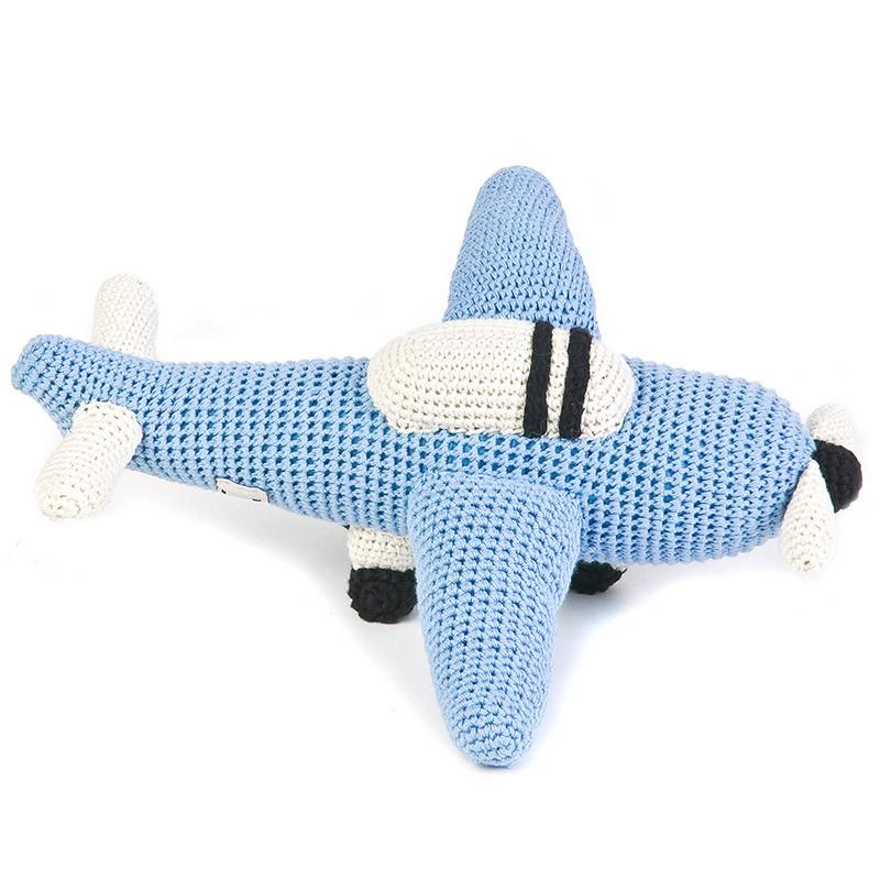 Игрушка вязаная Plane blue
