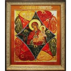 Икона с кристаллами Swarovski Неопалимая купина