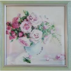 Картина с кристаллами Swarowski Чайные розы