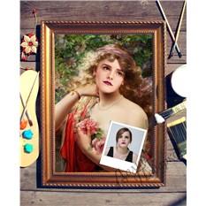 Портрет по фото В саду