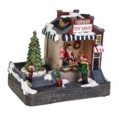 Новогоднее двигающееся украшение Магазин игрушек