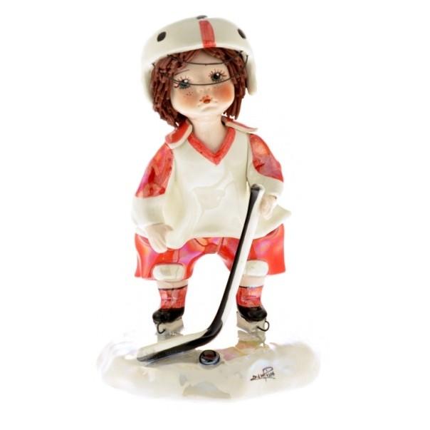 Фарфоровая статуэтка Хоккеист ZamPiva