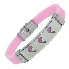 Розовый каучуковый браслет Рыбка