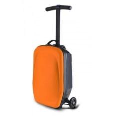 Оранжевый чемодан-самокат