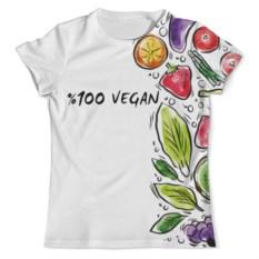 Футболка с полной запечаткой 100% vegan