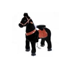 Средняя детская механическая каталка Чёрная лошадка