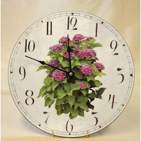 Настенные часы «Розовые цветы»