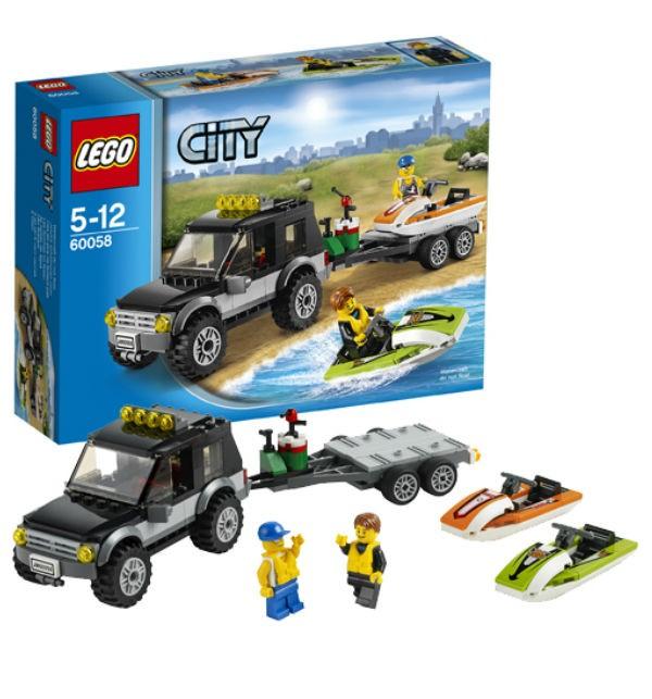 Конструктор Lego City Внедорожник с катером